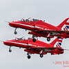 Pair of Red Arrows taking off from Fairford