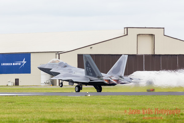 F-22A Raptor taking off