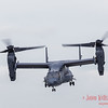 CV-22B Osprey comes out of a hover position
