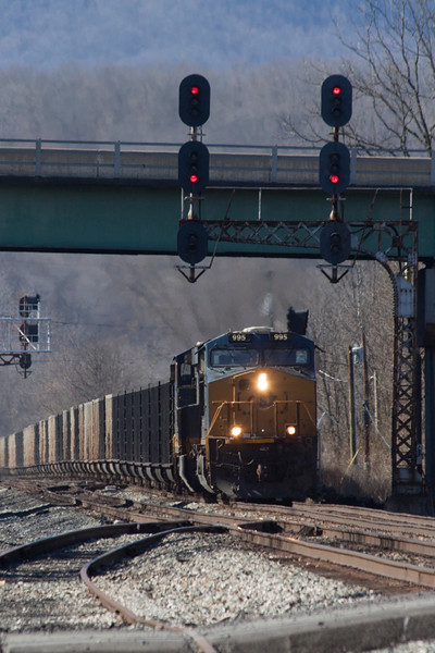 CSX 995 East at Alderson, WV