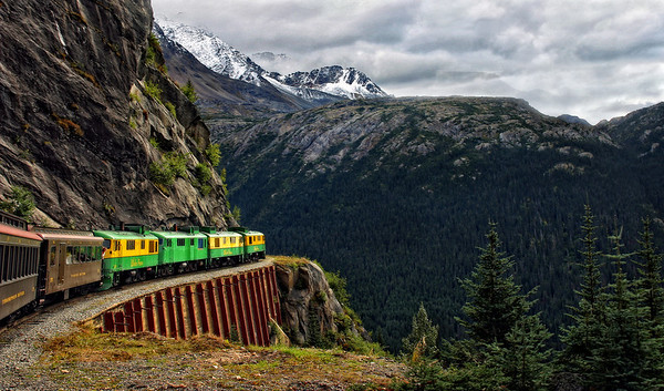 Yukon and White Pass railroad
