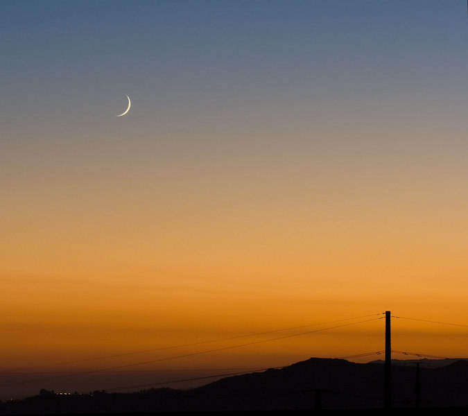 Ramadan Moon from Flint Mountain, Pasadena California