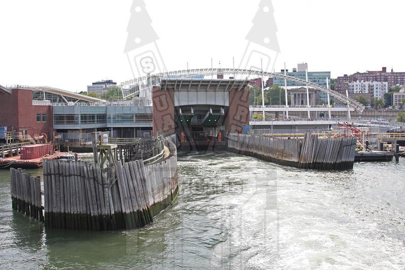 Staten Island ferry slip on Staten Island side