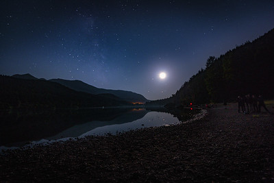 Moonlight Party at Rattlesnake Lake
