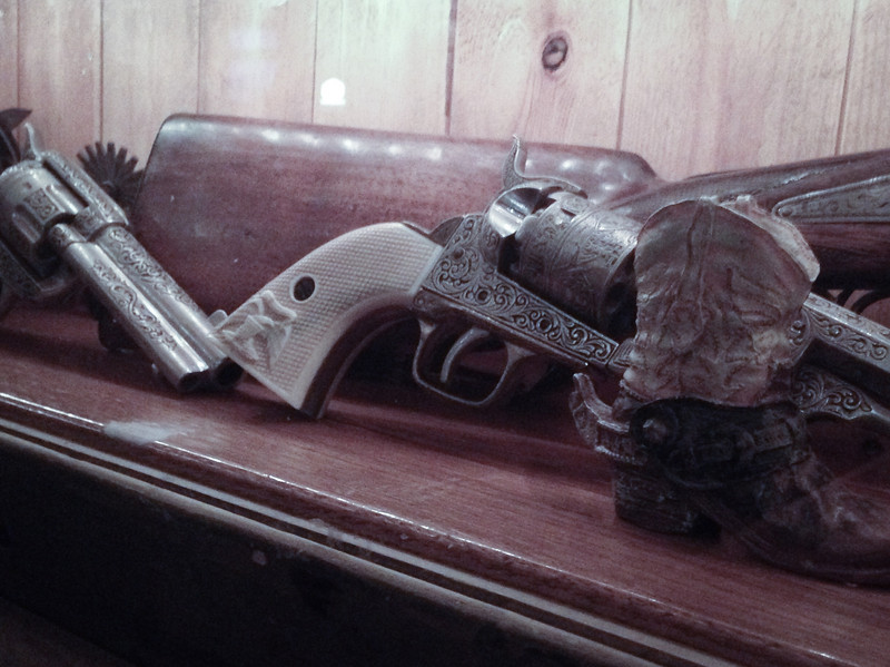 Antique guns at Wild West Town