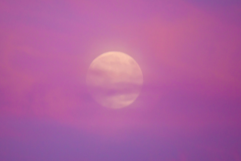 Moonrise at sunset 2