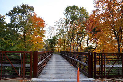 The start of the Lorain County Metro Parks' Steel Mill Trail off Colorado Avenue in Sheffield. (Photo by Chronicle Web editor Rona Proudfoot.)