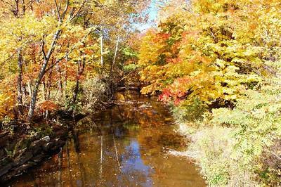 Beaver Creek running through Amherst. (Photo by Chronicle reader Ron Bakalar.)