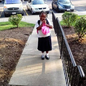 Aajaylah is ready for second grade at Elyria Community Elementary School.
