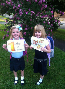 These two successfully completed their first day of school at Elyria Community Elementary.