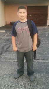 Brandon is ready for eighth grade at Midview Middle School.