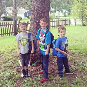 Chris, fourth grade; Caleb, third grade; and Josh, first grade, are ready for their first day at Vincent Elementary in Lorain.