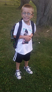 Shane Goetz on his first day of second grade.