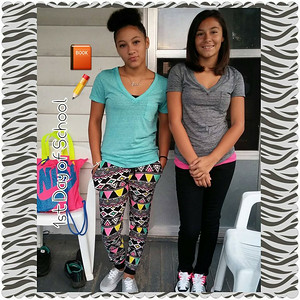 Nadiya, eight grade, and Amiya, sixth grade, are heading back to Eastern Heights Middle School.