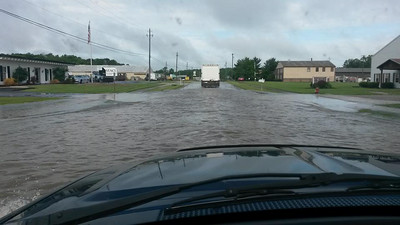 The entrance to Commerce Drive in LaGrange.