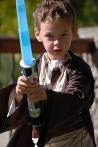 Clayton, 5, is Obi Wan Kenobi.