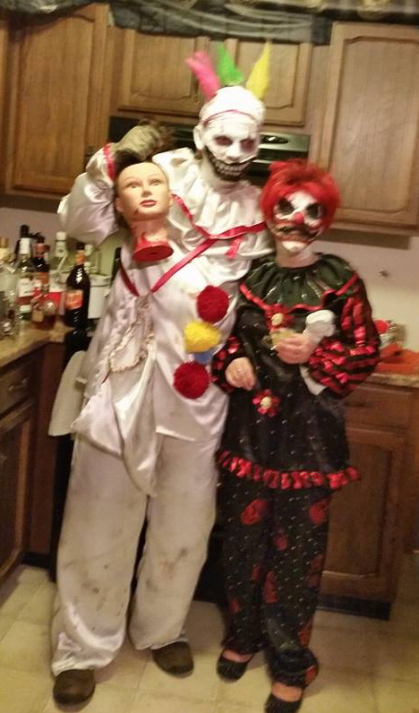 Dwight and Tracey Freeman are a frightening sight this Halloween.