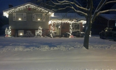 Shawn and Faith Culligan's home on Georgetown Avenue in Elyria is ready for the holidays.