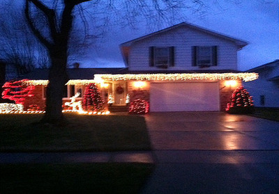 Todd Angello and his fiance, Jamie Babinsky, recently bought their first house on West 37th Street in Lorain. This is the first they have decorated outside.