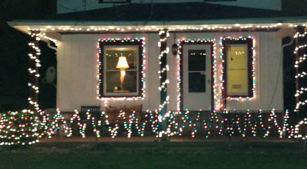 """Rachel Eusebia Torres' house on West 30th Street in Lorain is complete with the Leg Lamp from """"A Christmas Story."""""""