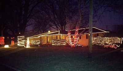 This house on Debra Drive in Elyria is all lit up for the holidays. READER PHOTO