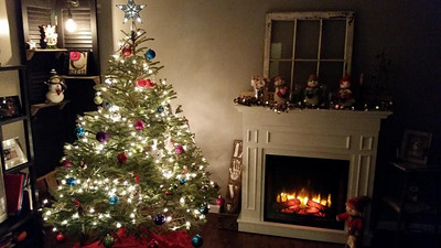The inside of this Elyria house is a picturesque Christmas scene. READER PHOTO