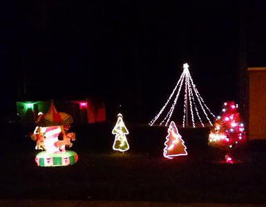 Christmas lights are displayed on Lafayette Boulevard in Sheffield Lake. READER PHOTO