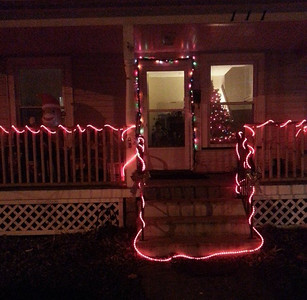 This Elyria house offers a bright greeting for visitors. READER PHOTO