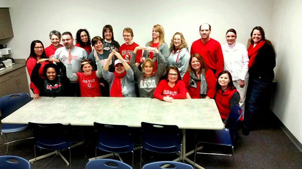 The staff at Lorain County Children Services is ready to cheer on the Buckeyes.