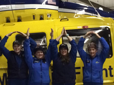 The Metro Life Flight staff is ready for tonight's game.