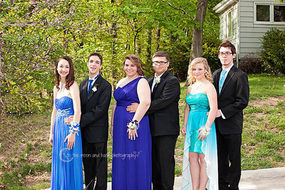 A group of Elyria High students pose before prom on May 10.