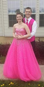 Brooke Nichole Kmitt and Jacob Newman pose before Black River's prom.