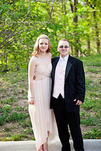 Tracie Truxall and Douglas Sweene pose before Elyria's prom on May 10.