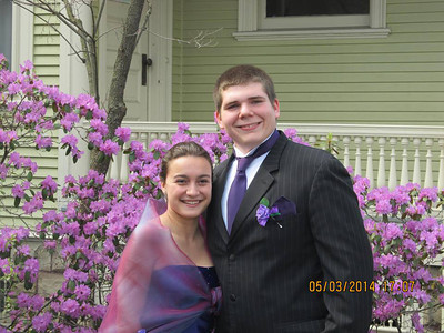 Sisi Snodgrass and Zacharia Berry pose before Elyria Catholic's prom on May 3.