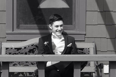 Jacob Hebebrand poses before Elyria High's prom on May 10.