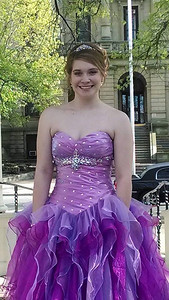 Lindsey Kessler is ready for Elyria High's prom on May 10.