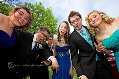 A group of Elyria High students goof around before prom on May 10.