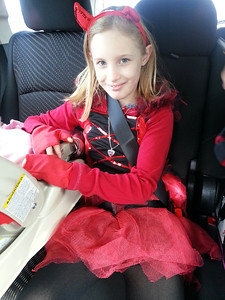 Devil Diva Kaleigh, 9, is ready for Halloween.