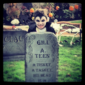 Alex Marcum, 7, is a spooky sight as Dracula.