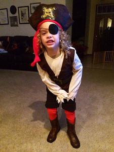 Joseph C. Wilson III, 4,is the fiercest pirate around.