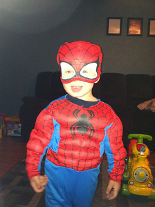 Villans beware, Jaycob, 2, is protecting Lorain County as Spider-Man.