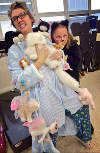 Holly Miller and Kelly Breunig, Marion L. Steele High School Math Intervention Specialists, got a little catty for Halloween.