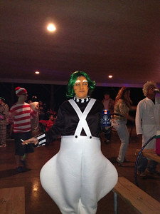Jennifer Telles dressed as an Oompa Loompa for a weekend Halloween party.