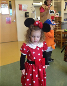 Madison, 2, dressed as Minnie Mouse for an event at LCCC.