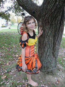 Lexie Kakos-LaCrosse, 11, is ready for Halloween.