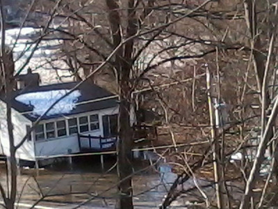 Kellie Umbel Simmons shared this photo of flooded homes along the Vermilion River on Feb. 22.