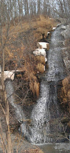 Patti Joseph Stiteler spotted a water fall on Ford Road on Feb. 23.