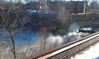 Patti Joseph Stiteler took this photo of the Black River Falls raging.