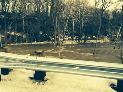 Wendy Fleming took this photo of flooding near Ford Road Bridge on Feb. 21.