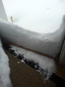 Caryn Bennett is snowed in in Grafton.